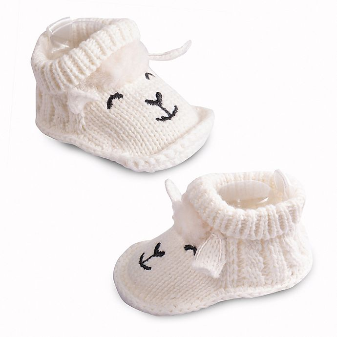 Alternate image 1 for IQ Kids Size 0-6M Lamb Booties in Ivory