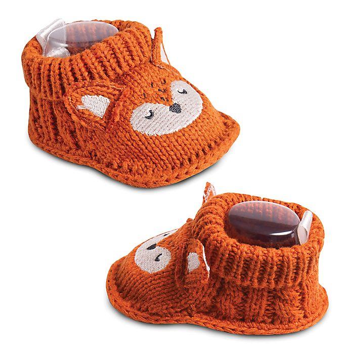 Alternate image 1 for IQ Kids Size 0-6M Fox Booties in Dark Orange
