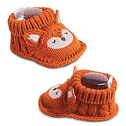 IQ Kids Size 0-6M Fox Booties in Dark Orange