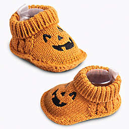 IQ Kids Size 0-6M Jack-O-Lantern Booties in Orange