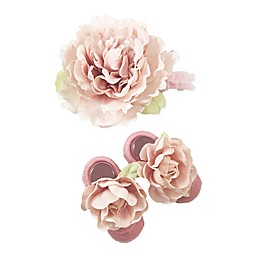 Toby Fairy™ 2-Piece Floral Headband and Mary Jane Sock Set in Pink