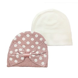 NYGB™ 2-Piece Dot Bow Hat and Mittens Set in Blue