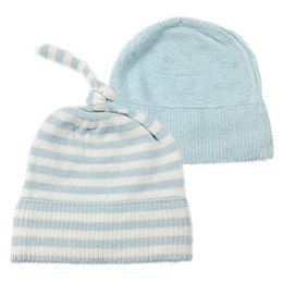 NYGB™ 2-Piece Stripe Knot Hat Set in Blue