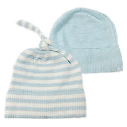 NYGB™ 2-Piece Stripe Knot Hat Set in Blue