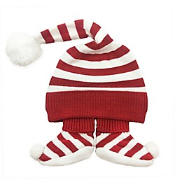 NYGB™ Newborn 2-Piece Elf Hat and Bootie Set in Holiday Red