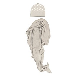 NYGB™ Newborn 2-Piece Star Hat and First Forever Wrap Set in Taupe