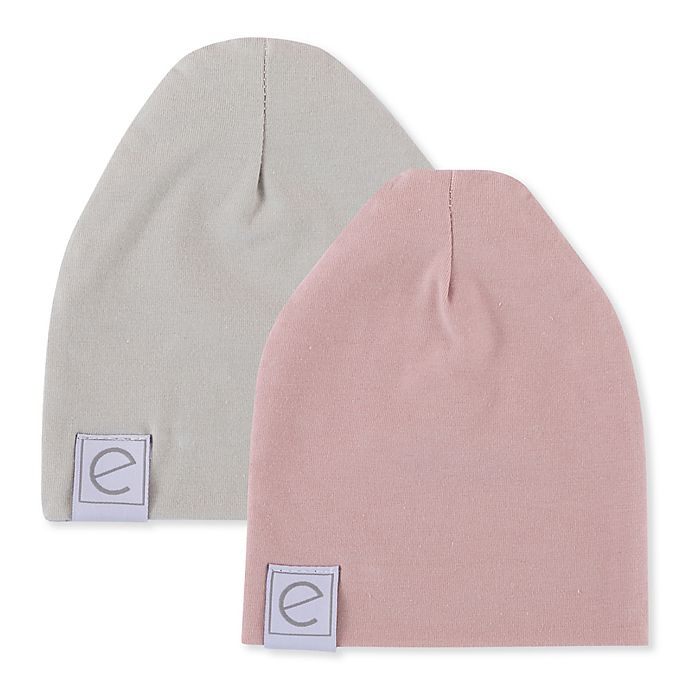 Alternate image 1 for Ely's & Co. Size 0-3M 2-Pack Beanies