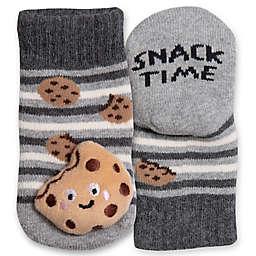 IQ Kids Size 0-12M Cookie Rattle Socks in Grey