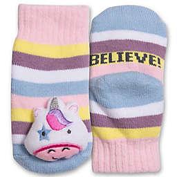 IQ Kids Size 0-12M Unicorn Rattle Socks