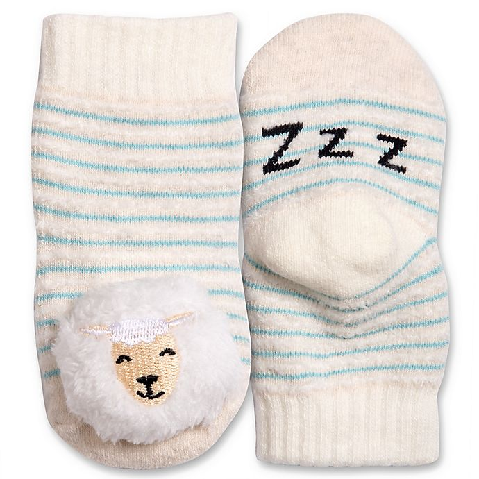 Alternate image 1 for IQ Kids Size 0-12M Sheep Rattle Sock in Tan