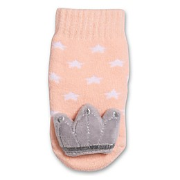IQ Kids Size 0-12M Crown Rattle Socks in Pink