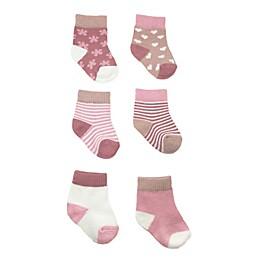 NYGB™ 6-Pack Jacquard Socks in Rose Quartz