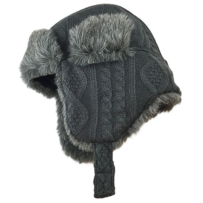 Alternate image 1 for Toby Fairy™ Fisherman Cable Knit Trapper Hat in Grey