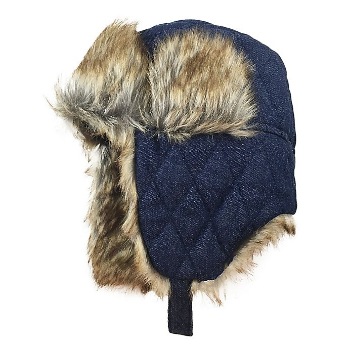 Alternate image 1 for Toby Fairy™ Denim Quilted Trapper Hat in Navy