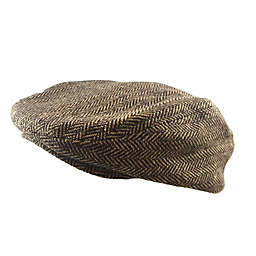 Toby Fairy™ Herringbone Cabbie Hat in Brown