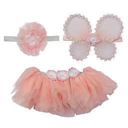 Elly & Emmy Size 0-6M 3-Piece Fairy Wing Fancy Tutu Set in Pink