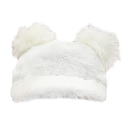 Toby Fairy™ Faux Fur Double Pom Baseball Cap in Ivory