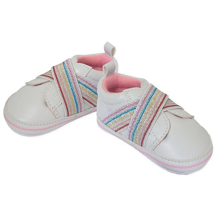 Alternate image 1 for Little Me® Glitter Slip-On Sneaker in White