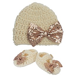 So'Dorable 2-Piece Beanie and Bootie Set in Ivory