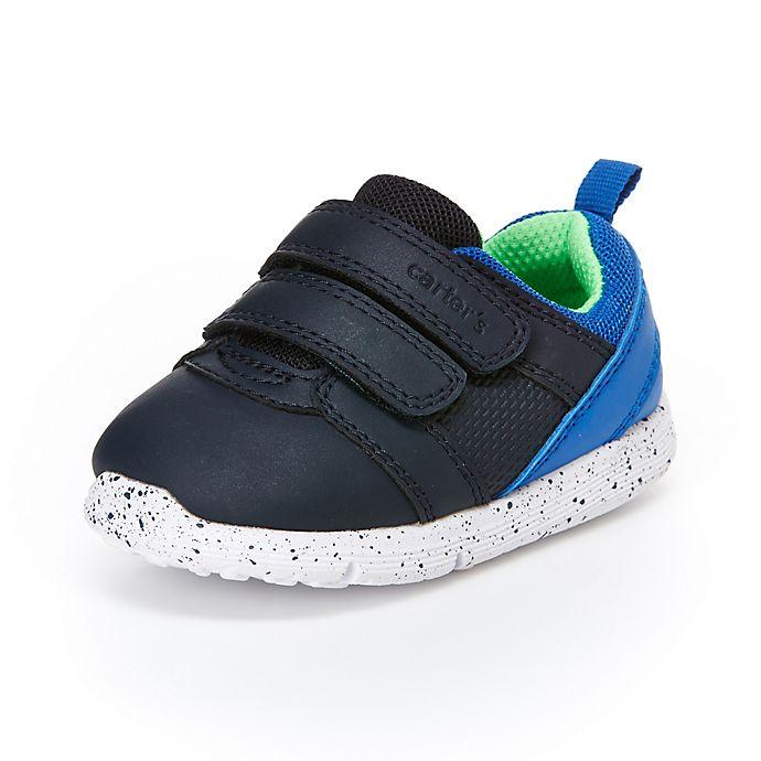 Alternate image 1 for carter's® Relay Sneaker in Navy/Lime