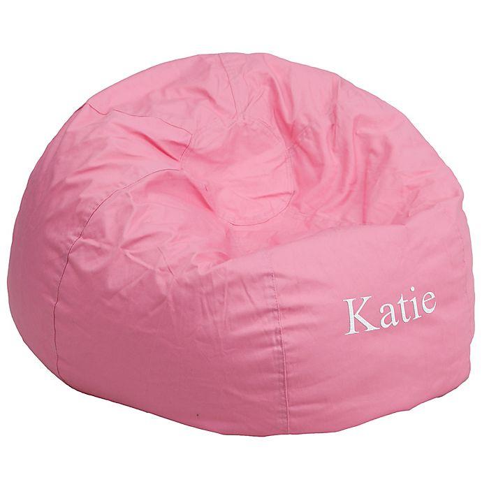 Surprising Flash Furniture Personalized Kids Bean Bag Chair Bed Bath Creativecarmelina Interior Chair Design Creativecarmelinacom