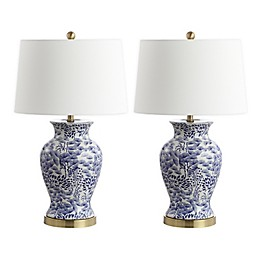 Safavieh Alona LED Table Lamps with Cotton Shade (Set of 2)