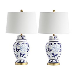 Safavieh Hana LED Table Lamps with Cotton Shade (Set of 2)
