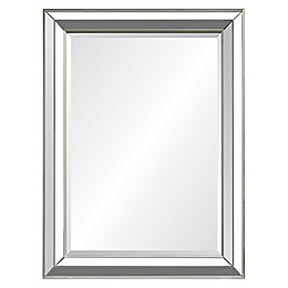 Ren-Wil Hawkwell 40-Inch x 30-Inch Rectangular Mirror in Silver Leaf