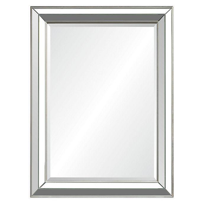 Alternate image 1 for Ren-Wil Hawkwell 40-Inch x 30-Inch Rectangular Mirror in Silver Leaf