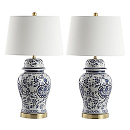 Safavieh Ariadne LED Table Lamps with Cotton Shade (Set of 2)