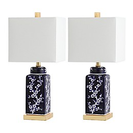 Safavieh Pilar LED Table Lamps with Cotton Shade (Set of 2)