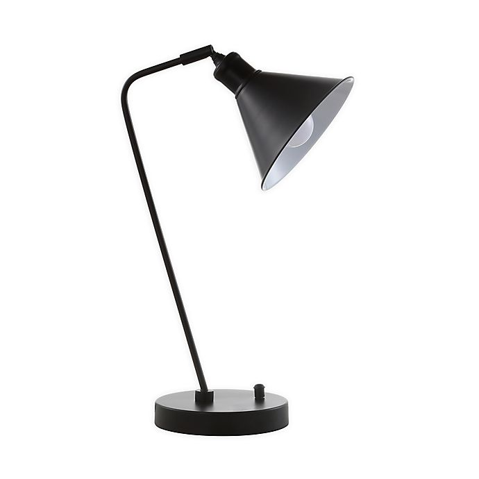 Alternate image 1 for Safavieh Vance Task Table Lamp in Black with Metal Dome Lamp Shade