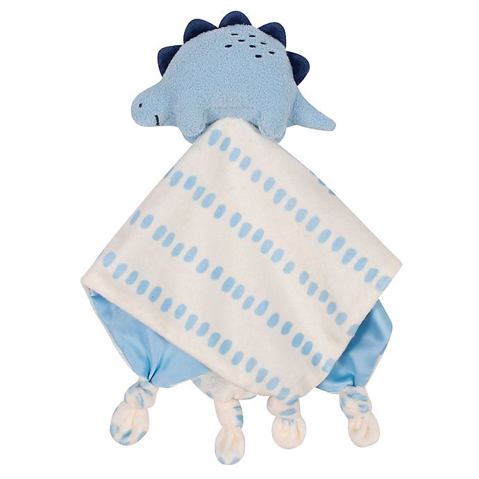 Alternate image 1 for Gerber® Dinosaur Plush Velboa Security Blanket in Ivory/Blue