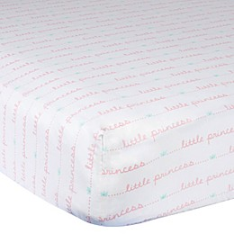 Gerber® Little Princess Cotton Fitted Crib Sheet in Pink