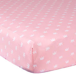 Gerber® Princess Crown Cotton Fitted Crib Sheet in Pink