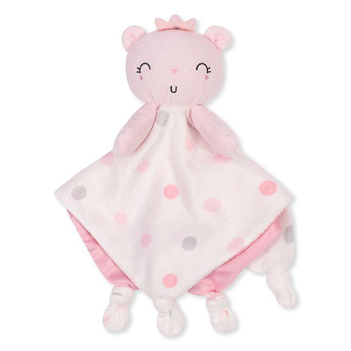Alternate image 1 for Gerber® Princess Bear Plush Velboa Security Blanket in Pink