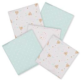 Gerber® Princess 5-Pack Flannel Receiving Blankets
