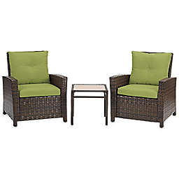 Barrington 3-Piece Wicker Club Chair Set