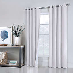 Commonwealth Home Fashions ThermaPlus Ventura 2-Pack 63-Inch Grommet Window Curtain in White