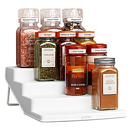 YouCopia® SpiceSteps 12-Bottle Spice Rack in White