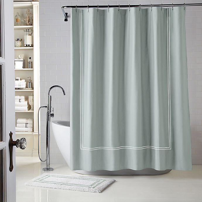 Alternate image 1 for Wamsutta® Baratta Stitch Shower Curtain