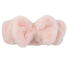 Addie & Tate Faux Fur Headband in Pink