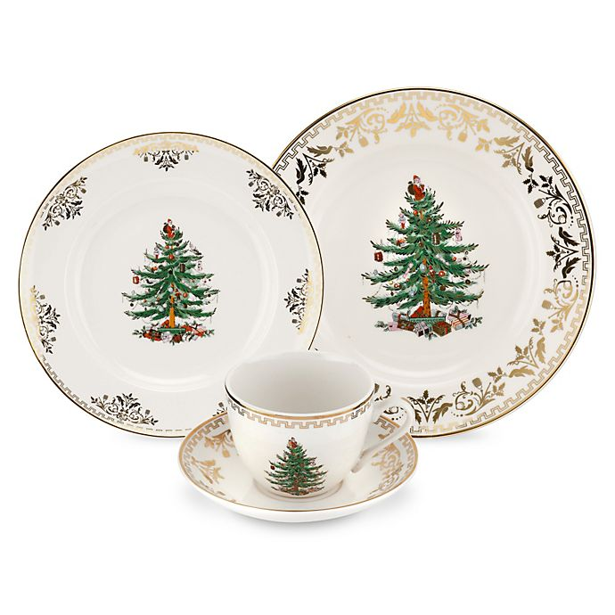Alternate image 1 for Spode® Christmas Tree Gold Dinnerware Collection