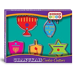 The Kosther Cook Hanukkah Shapes Stainless Steel Cookie Cutter Set