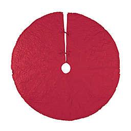 C&F Home™ 54-Inch Drayton Scarlet Tree Skirt in Scarlet