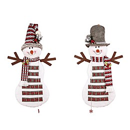 C & F Home Snowman Advent Calendar in White (Set of 2)