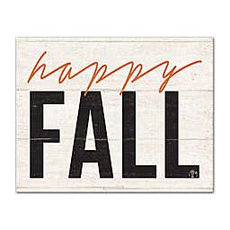 """""""Happy Fall"""" 11-Inch x 14-Inch Canvas Wall Art"""