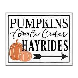 "Designs Direct ""Pumpkins, Apple Cider, Hayrides"" Canvas Wall Art"