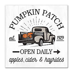 """""""Pumpkin Patch Open Daily"""" 12-Inch Square Wall Art"""