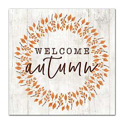 "Designs Direct ""Welcome Autumn"" Wreath Canvas Wall Art"